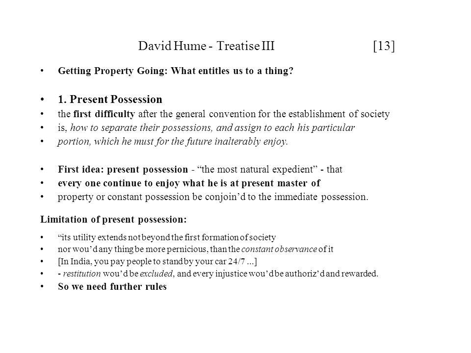 David Hume - Treatise III [13]